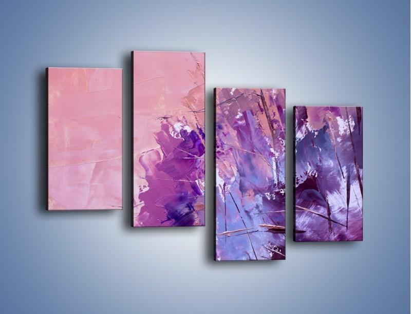 Obraz na płótnie – Mocna barwa fioletu – czteroczęściowy GR472W2