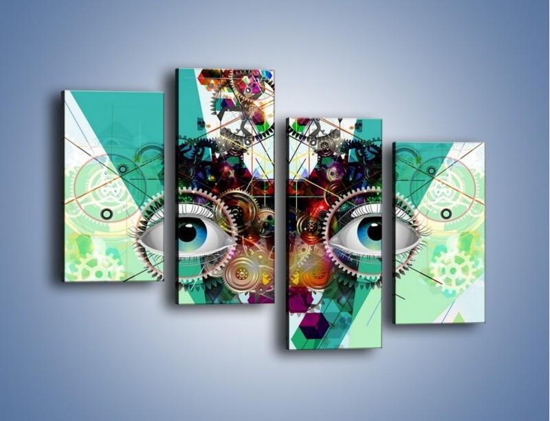 Obraz na płótnie – Mechanicznie otwarte oczy – czteroczęściowy GR504W2