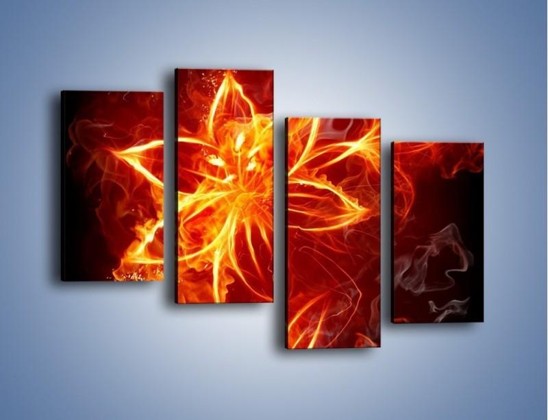Obraz na płótnie – Spłonąć jak kwiat – czteroczęściowy GR527W2