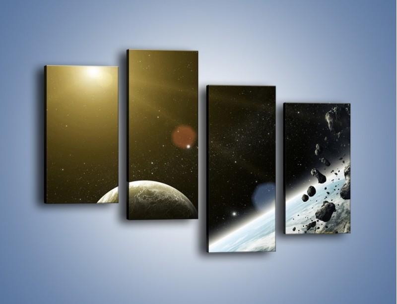 Obraz na płótnie – Dotrzeć między planety – czteroczęściowy GR534W2