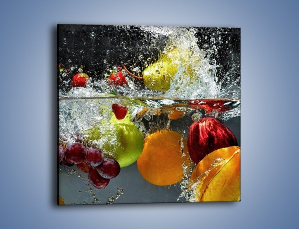 Obraz na płótnie – Głębokie owocowe zanurzenie – jednoczęściowy kwadratowy JN253