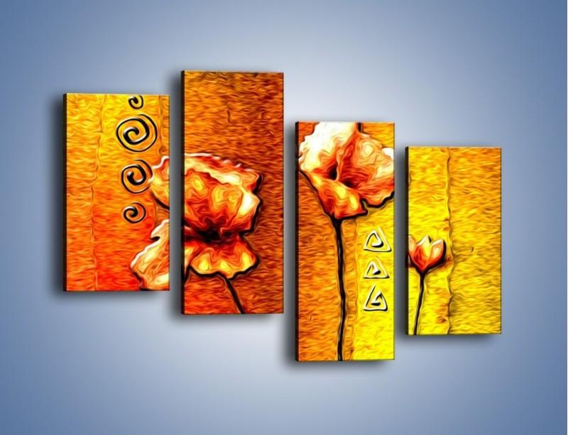 Obraz na płótnie – Maki z dodatkami – czteroczęściowy GR574W2