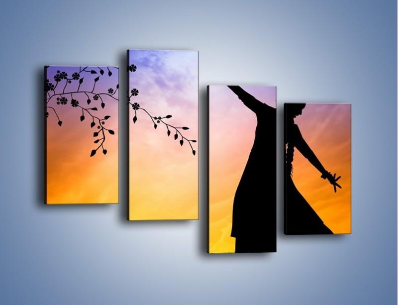 Obraz na płótnie – Wieczorny cygański taniec – czteroczęściowy GR597W2
