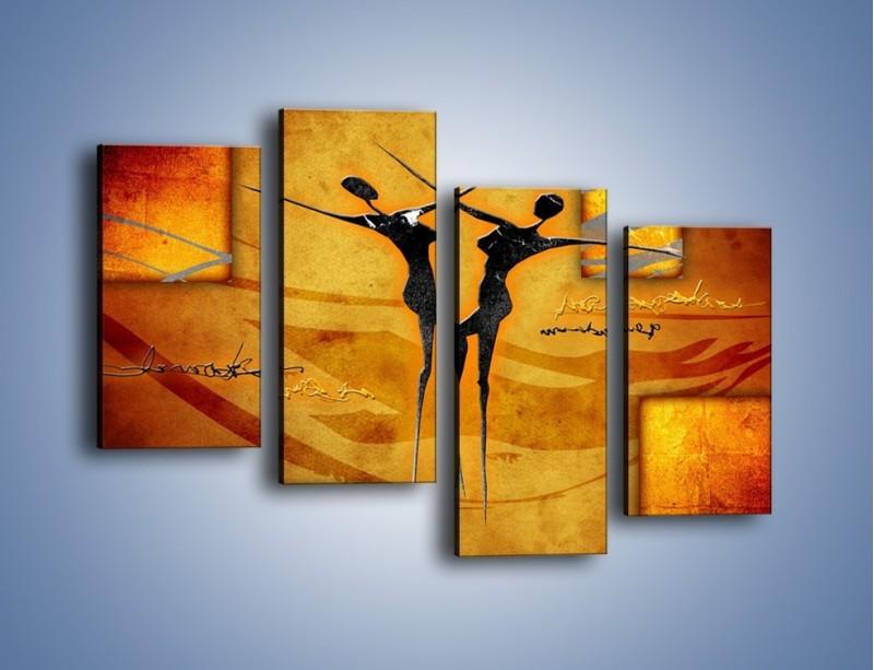 Obraz na płótnie – Dotyk w tańcu – czteroczęściowy GR633W2