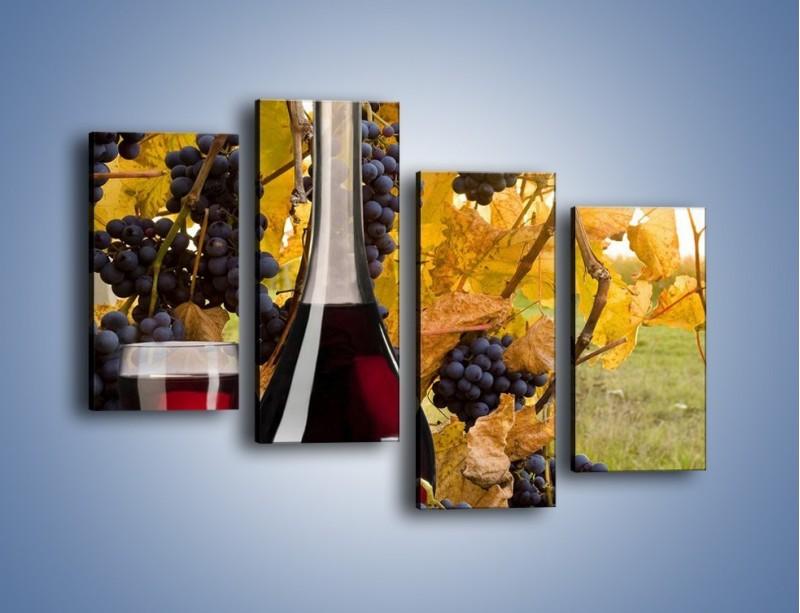 Obraz na płótnie – Wino wśród winogron – czteroczęściowy JN007W2