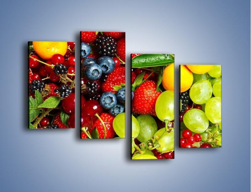 Obraz na płótnie – Wymieszane kolorowe owoce – czteroczęściowy JN037W2