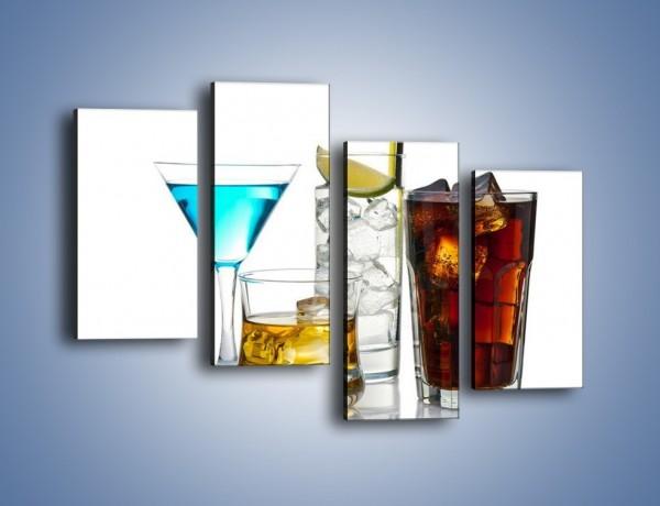 Obraz na płótnie – Kolorowe drinki – czteroczęściowy JN054W2