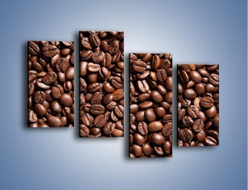 Obraz na płótnie – Ziarna świeżej kawy – czteroczęściowy JN061W2