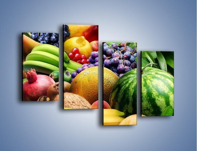 Obraz na płótnie – Stół pełen dojrzałych owoców – czteroczęściowy JN072W2