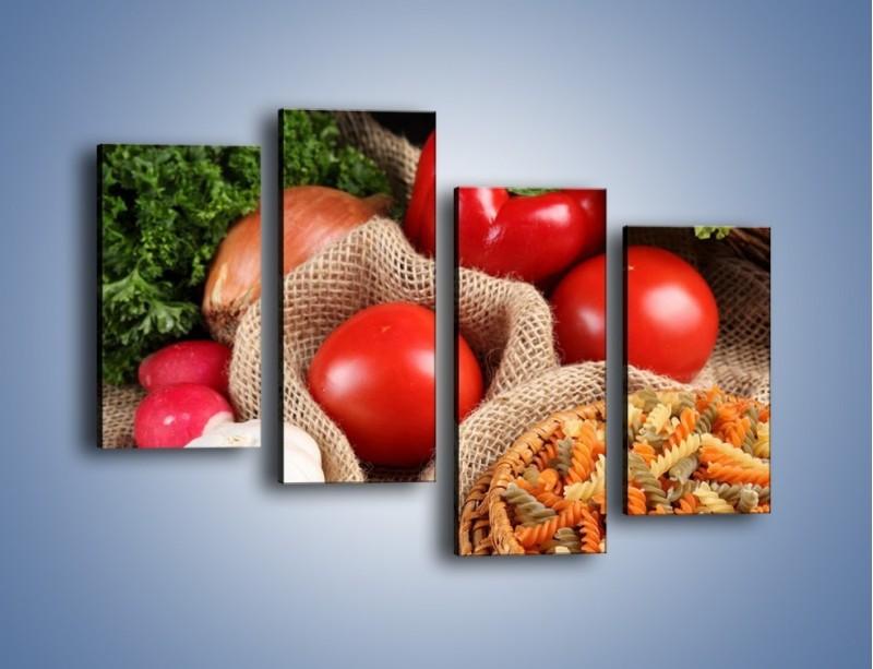 Obraz na płótnie – Makaron z warzywami – czteroczęściowy JN076W2