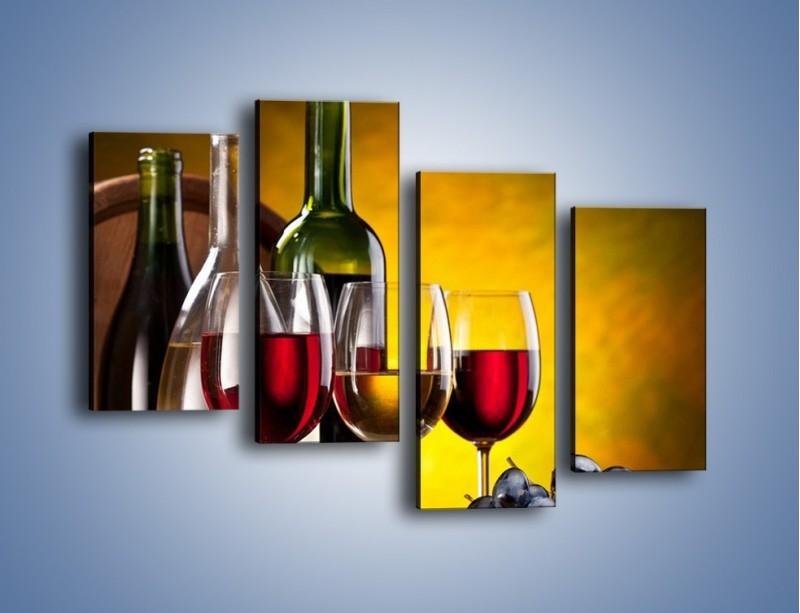 Obraz na płótnie – Wino z orzechami – czteroczęściowy JN077W2