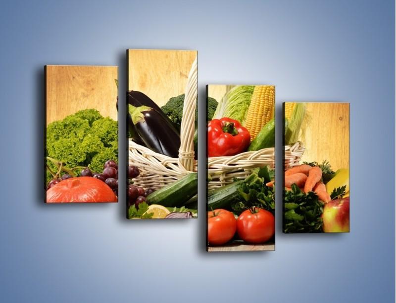 Obraz na płótnie – Kosz pełen warzywnych witamin – czteroczęściowy JN081W2