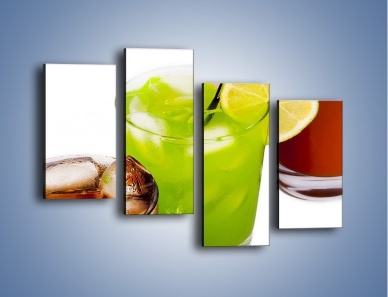 Obraz na płótnie – Kwaśno-słodkie drinki – czteroczęściowy JN093W2