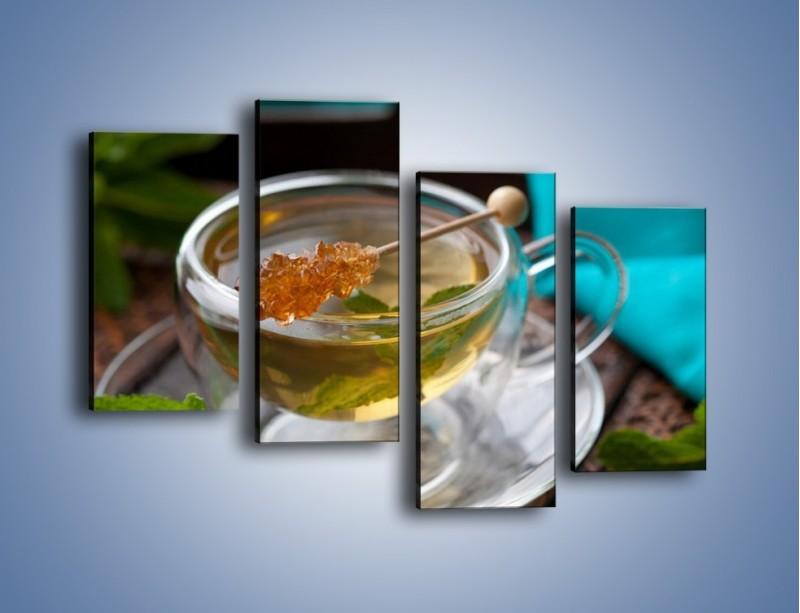 Obraz na płótnie – Oczyszczająca zielona herbata – czteroczęściowy JN104W2