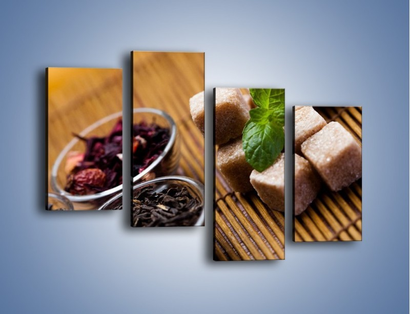 Obraz na płótnie – Ususzone bogactwa natury do herbaty – czteroczęściowy JN105W2