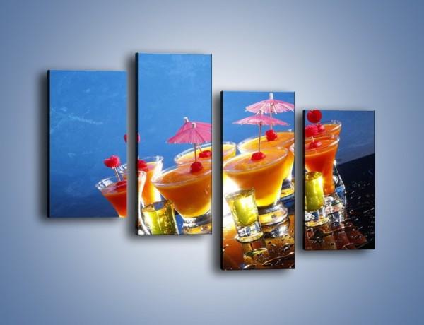 Obraz na płótnie – Tropikalne drinki nocą – czteroczęściowy JN160W2