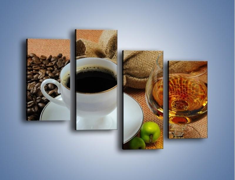 Obraz na płótnie – Wieczorowa kawa z prądem – czteroczęściowy JN166W2