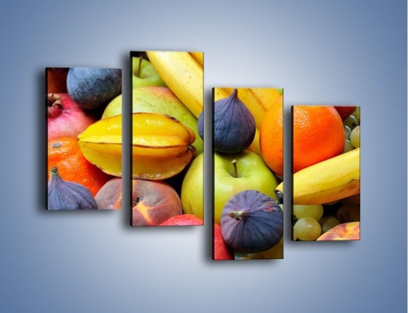 Obraz na płótnie – Owocowe kolorowe witaminki – czteroczęściowy JN173W2