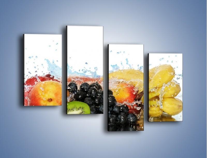Obraz na płótnie – Owocowe nuty skąpane w wodzie – czteroczęściowy JN176W2