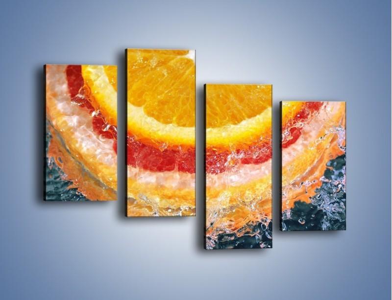 Obraz na płótnie – Cytrusowe trio – czteroczęściowy JN177W2