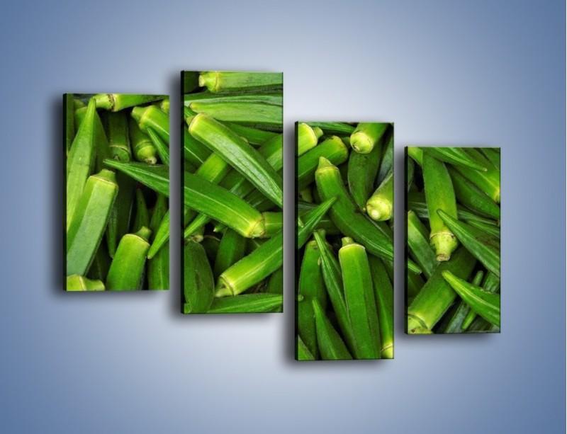 Obraz na płótnie – Warzywna egzotyka – czteroczęściowy JN191W2