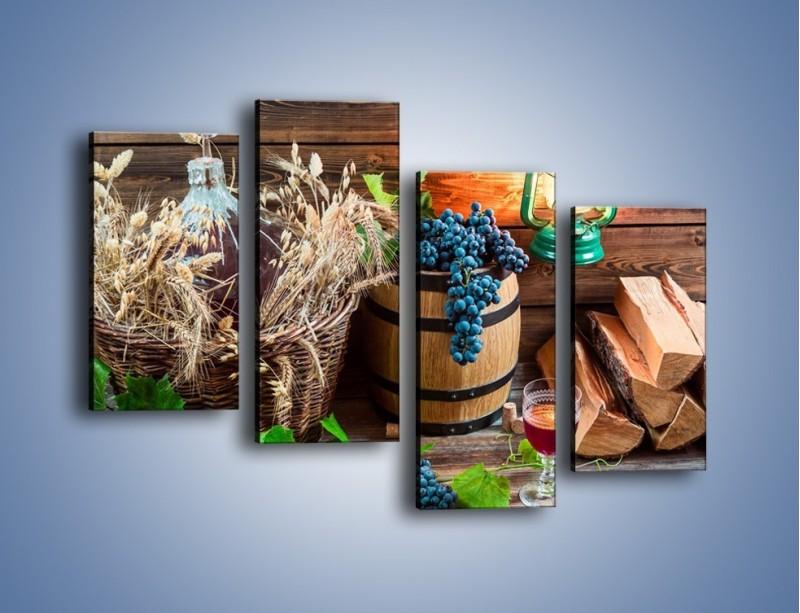 Obraz na płótnie – Wino według własnego przepisu – czteroczęściowy JN202W2