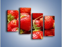 Obraz na płótnie – Czas na truskawkowa rozkosz – czteroczęściowy JN220W2