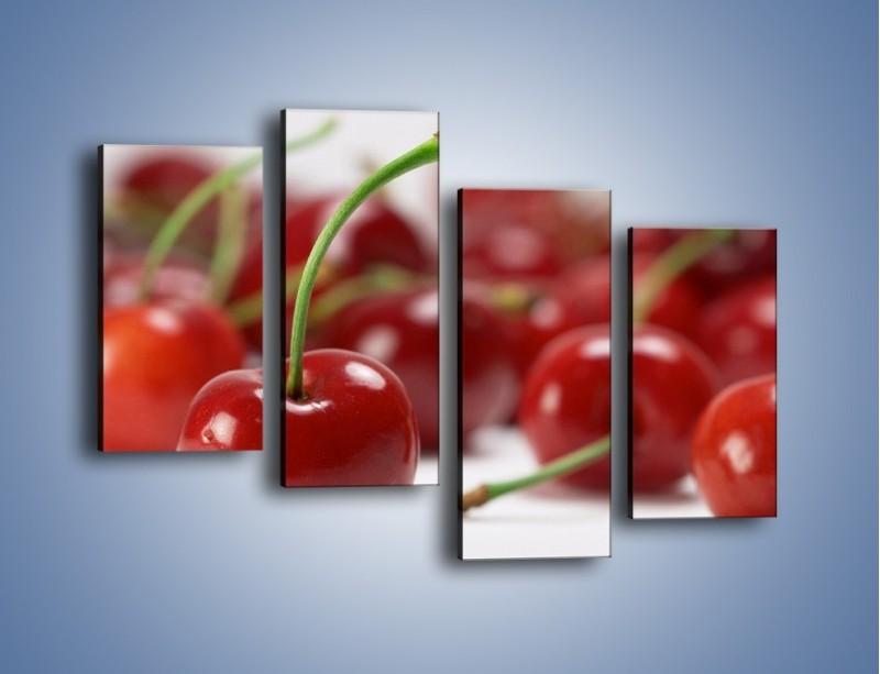Obraz na płótnie – Czereśnia rządzi w kuchni – czteroczęściowy JN223W2