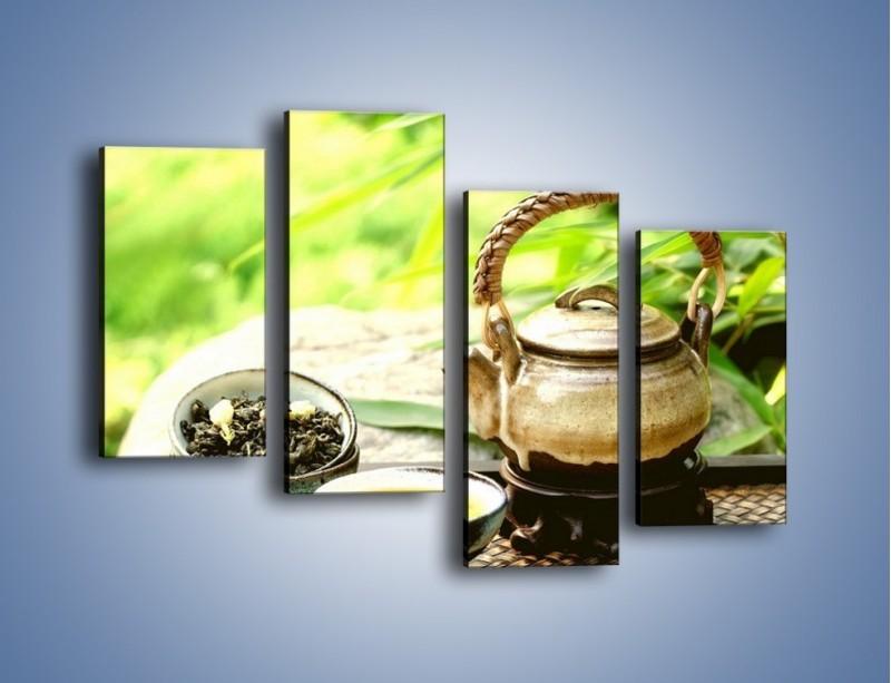 Obraz na płótnie – Herbata na świeżym powietrzu – czteroczęściowy JN249W2