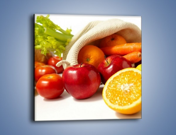 Obraz na płótnie – Zakupy pełne zdrowia – jednoczęściowy kwadratowy JN258