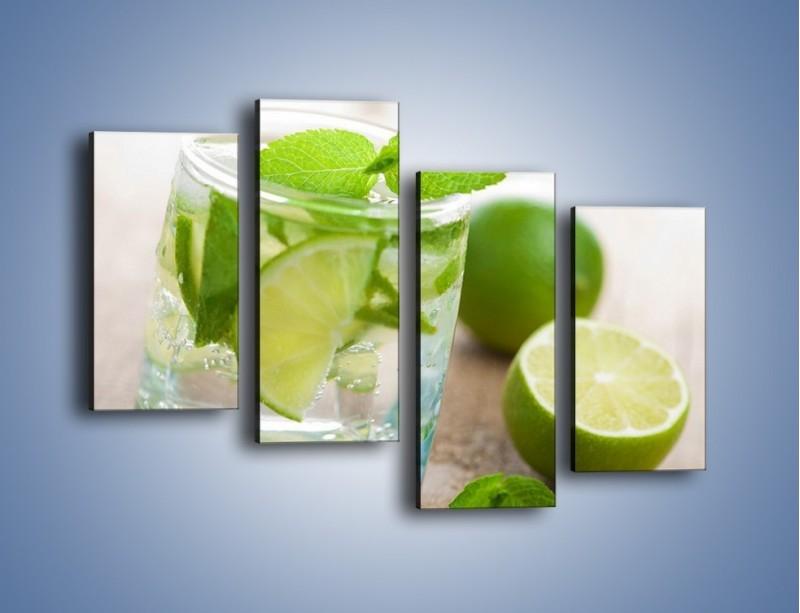 Obraz na płótnie – Limonkowy napój – czteroczęściowy JN262W2