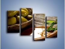 Obraz na płótnie – Bogactwa wydobyte z oliwek – czteroczęściowy JN270W2