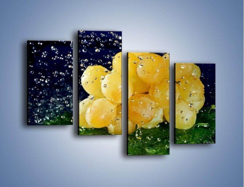 Obraz na płótnie – Słodkie winogrona z miętą – czteroczęściowy JN286W2