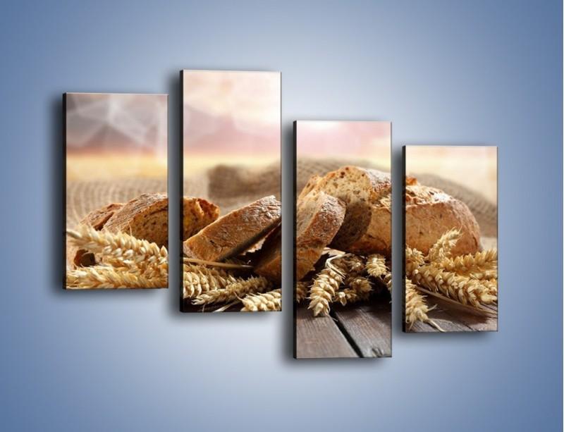 Obraz na płótnie – Świeży pszenny chleb – czteroczęściowy JN287W2