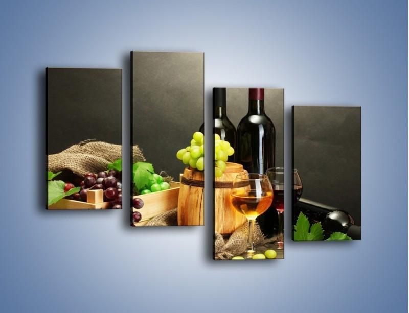 Obraz na płótnie – Wytrawne smaki wina – czteroczęściowy JN289W2