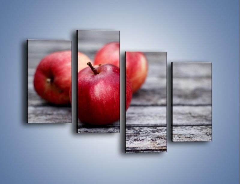 Obraz na płótnie – Jabłkowe zdrowie – czteroczęściowy JN296W2