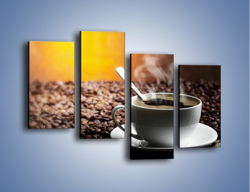 Obraz na płótnie – Aromatyczna filiżanka kawy – czteroczęściowy JN298W2