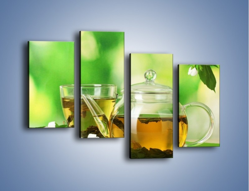 Obraz na płótnie – Herbaciane ukojenie – czteroczęściowy JN316W2