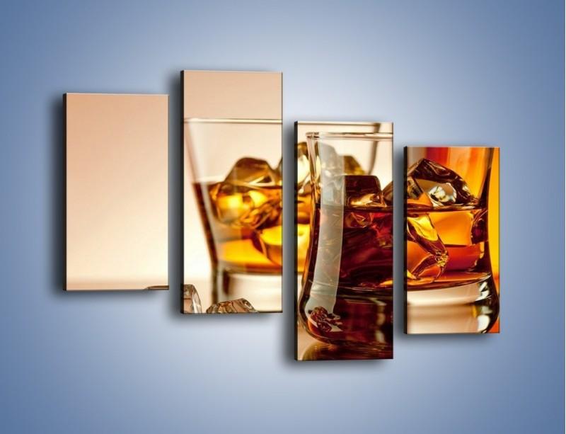 Obraz na płótnie – Męskie rozmowy przy whisky – czteroczęściowy JN318W2
