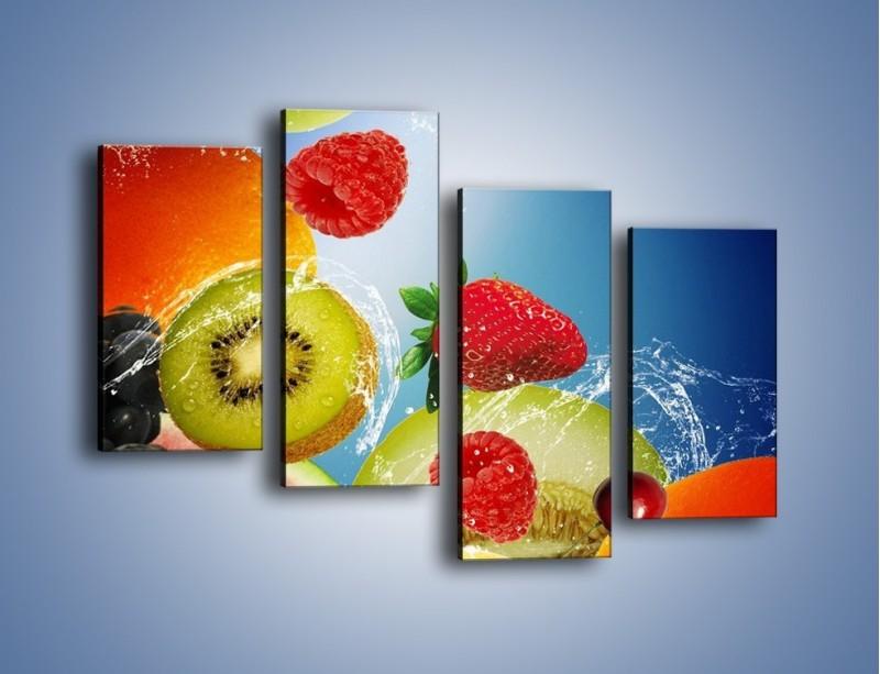 Obraz na płótnie – Owoce o poranku – czteroczęściowy JN331W2