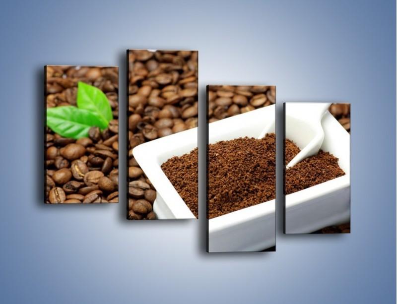 Obraz na płótnie – Zmielona kawa – czteroczęściowy JN340W2