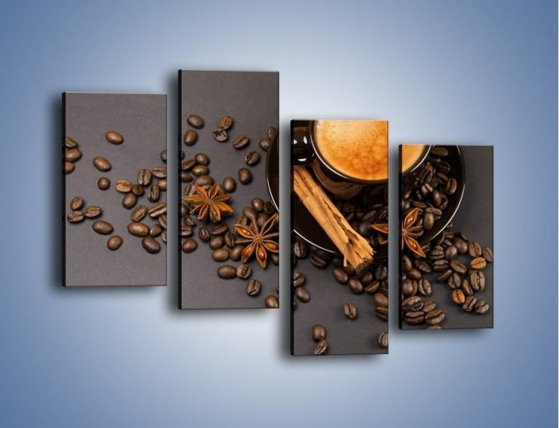 Obraz na płótnie – Kawa z goździkiem – czteroczęściowy JN349W2