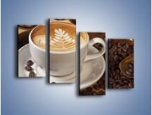 Obraz na płótnie – Czas na kawę – czteroczęściowy JN353W2