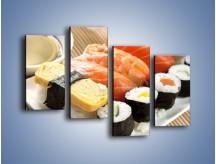 Obraz na płótnie – Azjatyckie posiłki – czteroczęściowy JN355W2