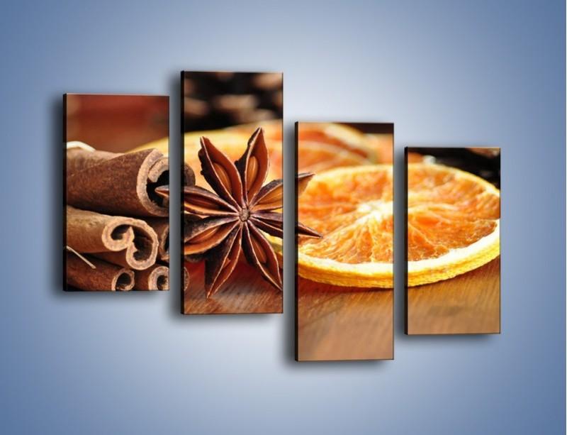 Obraz na płótnie – Pomarańcza z dodatkami – czteroczęściowy JN357W2