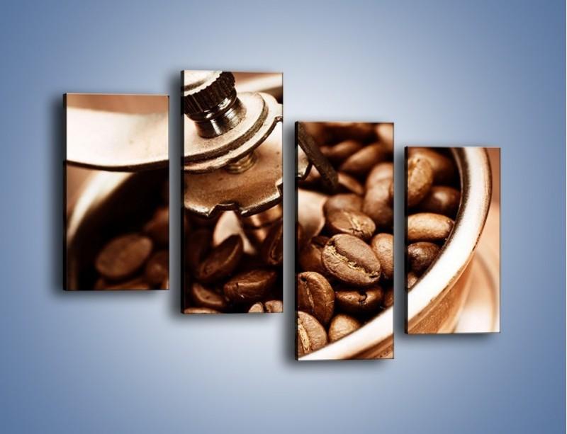 Obraz na płótnie – Kawa w młynku – czteroczęściowy JN361W2