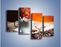 Obraz na płótnie – Aromatyczny zapach kawy – czteroczęściowy JN374W2