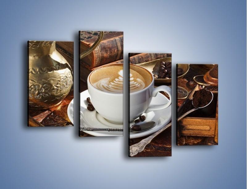 Obraz na płótnie – Wspomnienie przy kawie – czteroczęściowy JN377W2