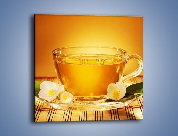 Obraz na płótnie – Delikatny smak herbaty – jednoczęściowy kwadratowy JN261