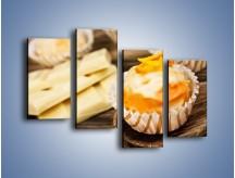 Obraz na płótnie – Babeczka z białej czekolady – czteroczęściowy JN428W2